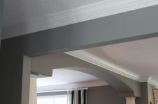 Interior wall and crown molding painting