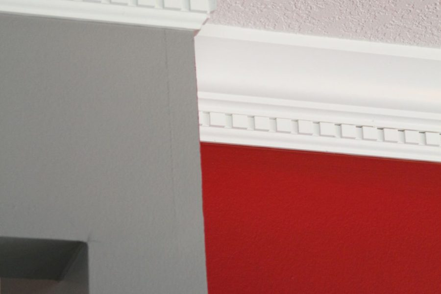 Wall and crown molding painting